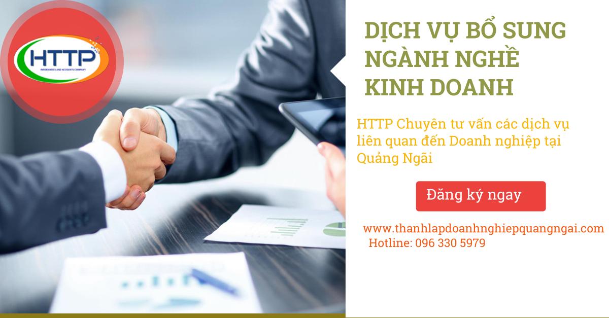 Dịch vụ bổ sung ngành nghề kinh doanh công ty tại Quảng Ngãi